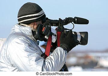 ジャーナリスト, videocamera