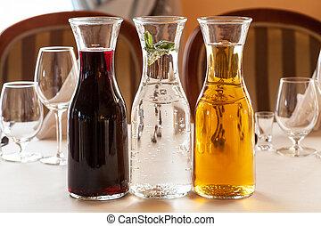 ジュースをしぼる, カラフルである, レセプション, テーブル