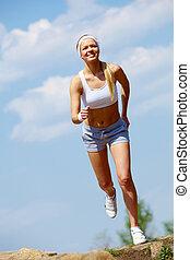 ジョッギング女性