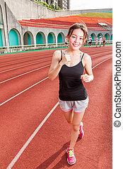 ジョッギング, レース, 中国の女性
