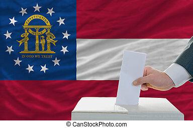 ジョージア, 選挙, 旗, 前部, 投票, 人