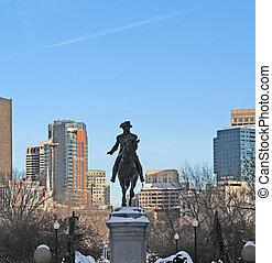 ジョージ・ワシントン彫像, 中に, ボストン