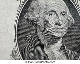 ジョージ・ワシントン, 上に, 1枚の1ドル札