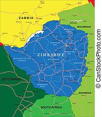 ジンバブエ, 地図