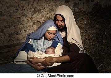ジーザスを幼児のように扱いなさい, 現場, nativity