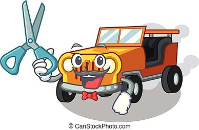 ジープ, 自動車, 理髪師, 隔離された, 漫画