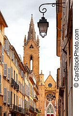 ジーン, 教会, 中世, 古い, aix-en-provence., maltese., st. 。