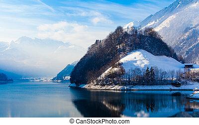 スイス人, 冬, alps.