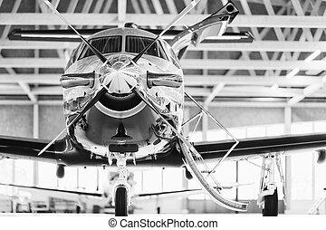 スイス, 29th, 2010., stans, 11 月, pilatus, 航空機, ターボプロップ, pc-12, 単一, hangar.