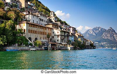 スイス, lugano, 湖