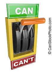 スイッチ, 缶, can't