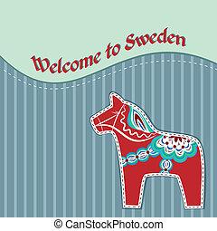 スウェーデン語, 木製の脚立, カード