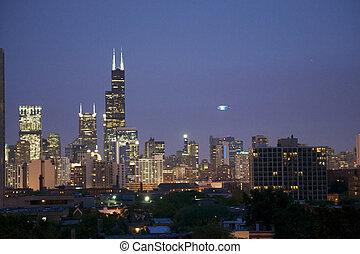 スカイライン, シカゴ, 夜