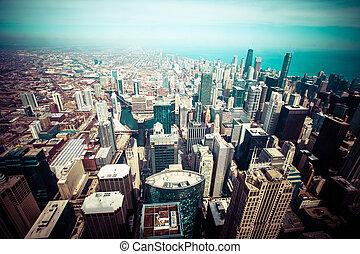 スカイライン, シカゴ, 空中写真