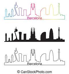 スカイライン, スタイル, バルセロナ, 線である
