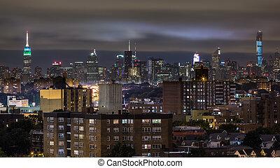 スカイライン, マンハッタン, 夜