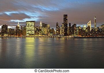 スカイライン, マンハッタン, night.