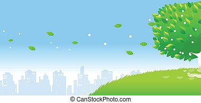 スカイライン, 個人, 都市, 木