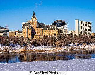 スカイライン, 冬, saskatoon
