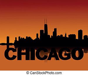 スカイライン, 日没, シカゴ