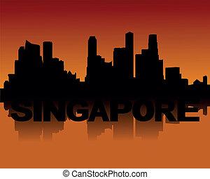 スカイライン, 日没, シンガポール
