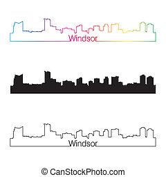 スカイライン, 虹, スタイル, 線である, windsor