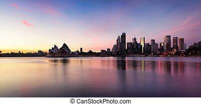 スカイライン, 都市, シドニー, 日の出