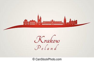 スカイライン, krakow, 赤