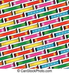 スカーフ, パターン, 背景