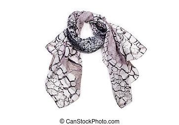 スカーフ, 白, 隔離された, 背景