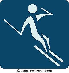 スキーの下り坂, アイコン