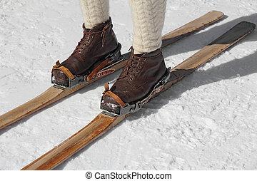 スキーをする, 古い