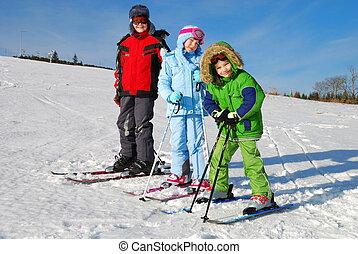 スキーをする, 子供, 3