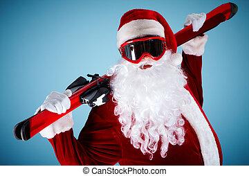 スキーをする, santa