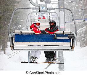 スキーヤー, スキーリフト