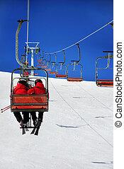 スキーヤー, リフト, スキー