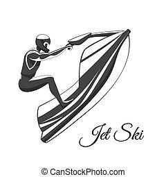 スキー, ジェット機, 人