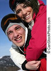 スキー, ティーネージャー, 休暇