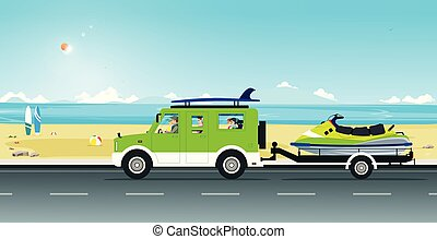 スキー, 人力車, ジェット機