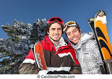 スキー, 男性, 旅行, 2