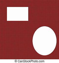 スクラップブック, はたを織りなさい, ページ, 手ざわり, 赤