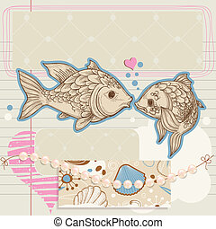 スクラップブック, 主題, 要素, 愛, 海