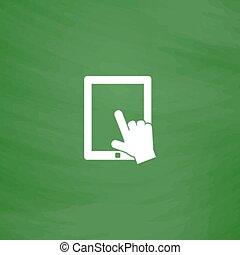 スクリーン, クリック, タブレット