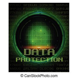 スクリーン, 保護, データ, デジタル, 指紋