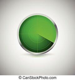 スクリーン, 放射状, 緑, color.