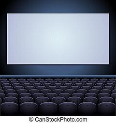 スクリーン, seats., 劇場, 映画館