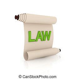 スクロール, 古代, 緑, law., 単語