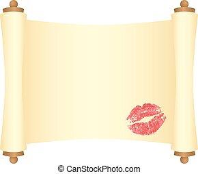 スクロール, 接吻