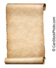 スクロール, 羊皮紙