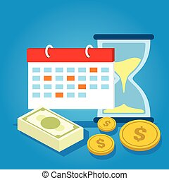 スケジュール, お金, 支払い, 給料日, 期限, カレンダー, 日, 支払期限が過ぎている